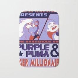 Purple Puma & Tiger Millionaire! Bath Mat
