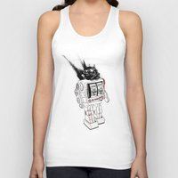 army Tank Tops featuring robot army by Tom Kitchen