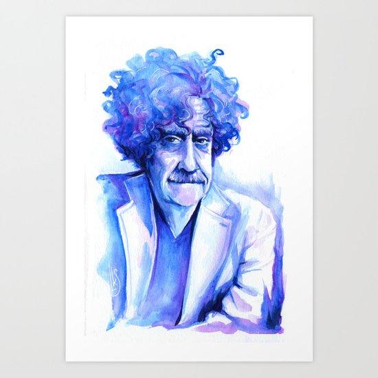 Blue Vonnegut Art Print