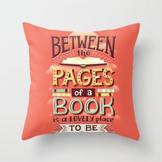 Between pages Throw Pillow