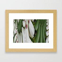 Plumage Decor Fractal Framed Art Print
