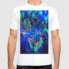 Blue Paradise White MEDIUM Mens Fitted Tee