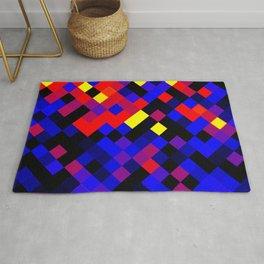 Polyamory Pride Pixelated Angled Squares Rug
