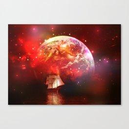 Segelboot im Universum Canvas Print