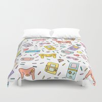 gaming Duvet Covers featuring Gaming by Irene Florentina