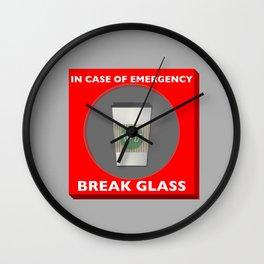 In case of Emergency, Break Glass Wall Clock