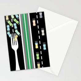 Fork in the road Stationery Cards