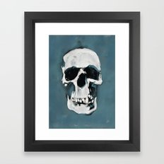 The Sherlock Skull Framed Art Print