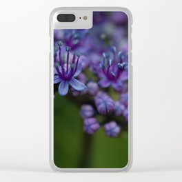 Pretty Purple Flower After the Rain Clear iPhone Case