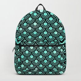 Mermaid Scales in Metallic Turquoise Backpack