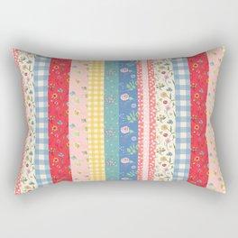 Happy patchwork stripe Rectangular Pillow
