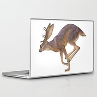 jackalope Laptop & iPad Skins featuring Jackalope by Sadé Hickman