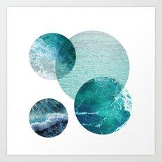 Aqua Circles Art Print