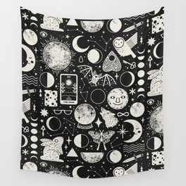 Lunar Pattern: Eclipse Wall Tapestry