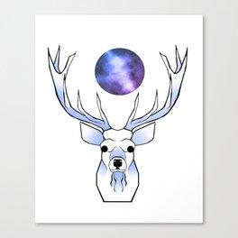Galaxy Deer Canvas Print