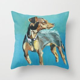 Mabel Jane the Marvelous Mystery Mutt Throw Pillow