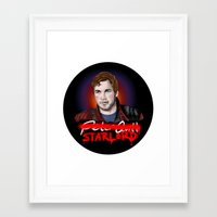 starlord Framed Art Prints featuring Peter Quill - StarLord by xKxDx
