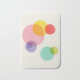 Rainbow Bubbles Bath Mat