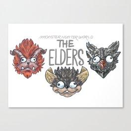 Monster Hunter World Elder Dragons Canvas Print