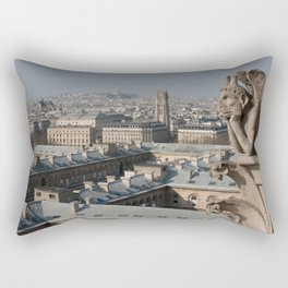 Gargoyle staring at Paris Rectangular Pillow