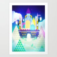castle in the sky Art Prints featuring Castle in the Sky by Alexander Pohl