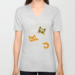 Cats against catcalls t-shirt Feminism cat Unisex V-Neck