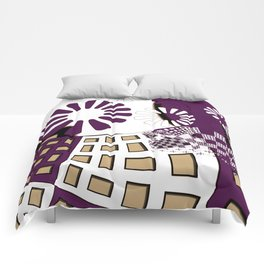 Squares spiral geometrical Comforters
