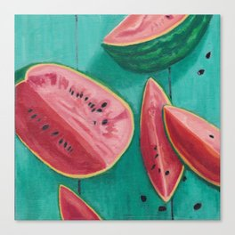 Watermelon Seeds Canvas Print