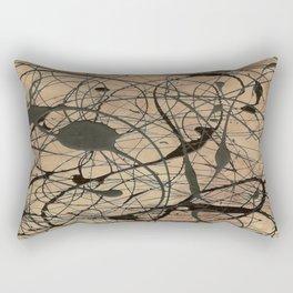Pollock Inspired Cool Abstract Splatter Drip Painting Rectangular Pillow