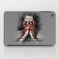 rick grimes iPad Cases featuring Rick Grimes from The Walking Dead by Cursed Rose
