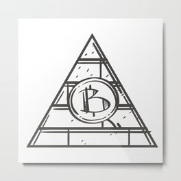 Bitcoin Illustration Metal Print