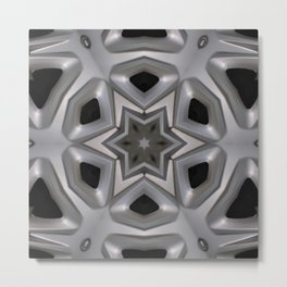 Abstract kaleidoscope of a wheel cover Metal Print