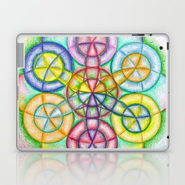 Fundamental Patterns of the Universe - The Rainbow Tribe Collection Laptop & iPad Skin