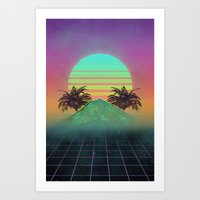 80s Art Prints featuring 80s love by Mikuloctopus