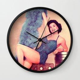 Cyd Charisse, Actress and Dancer Wall Clock