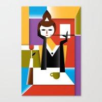 breakfast Canvas Prints featuring Breakfast by Szoki
