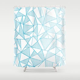 Abstraction Lines Watercolour Shower Curtain