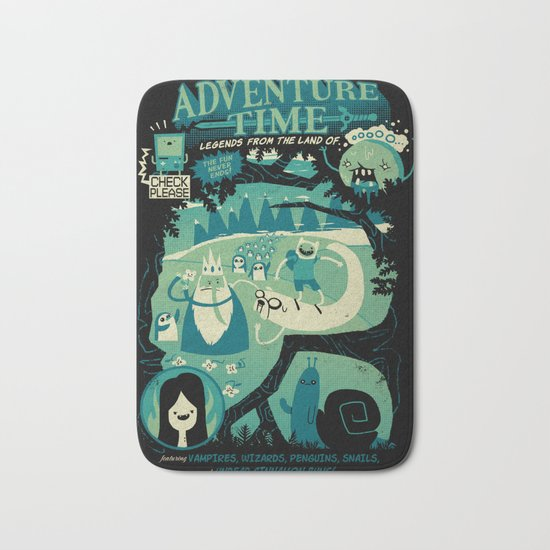 Legends from the Land of Ooo Bath Mat