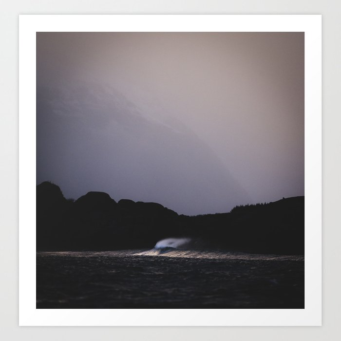 Lonely wave Art Print