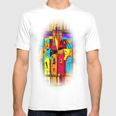 Build your fairytale World by Nico Bielow Mens Fitted Tee MEDIUM White