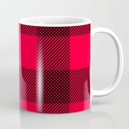 DigiPlaid Red Coffee Mug