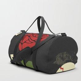 Grunge rock slogan print Duffle Bag