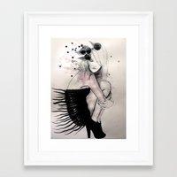 birdy Framed Art Prints featuring Birdy by Sarah Bochaton