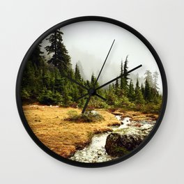 Mt Seymour forest and river views Wall Clock