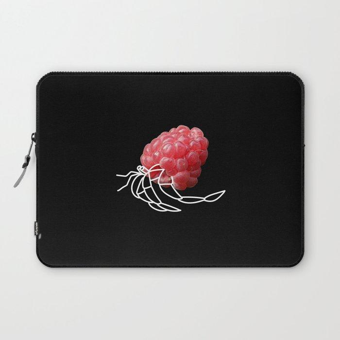 Raspberry Hermit Crab Laptop Sleeve