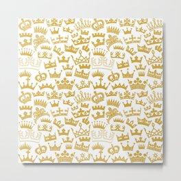 seamless pattern with crown Metal Print