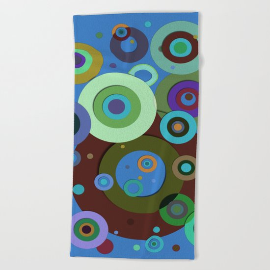 Op Art #9 Beach Towel