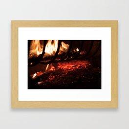 Inside the fire Framed Art Print