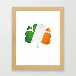 Shamrock Clover Irish Flag St. Patrick's Day Framed Art Print