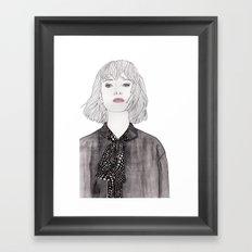 Pastel Girl 2 Framed Art Print